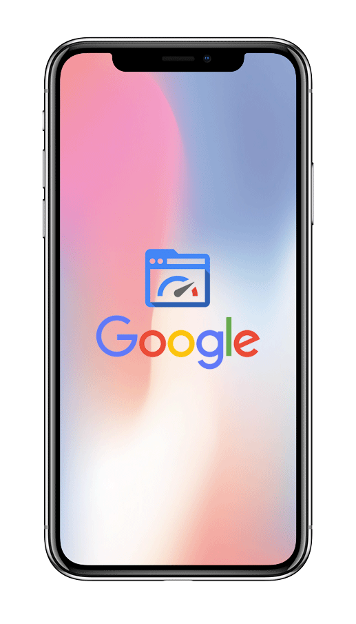 Smartphone im Display Google PageSpeed-Optimierung