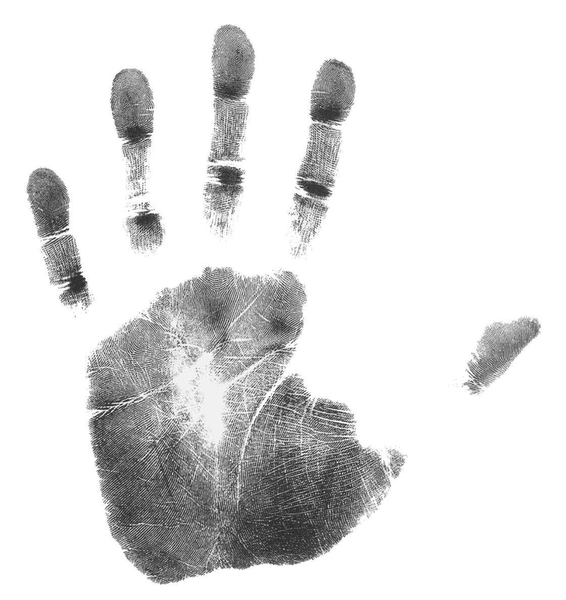 Identität Handabdruck Drucker