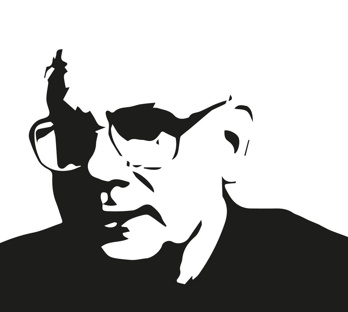 Steven Reiss Vektor schwarz/weiß
